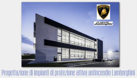 Progettazione di impianti di protezione attiva antincendio Lamborghini