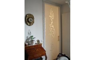 Porte in vetro decorate fermo