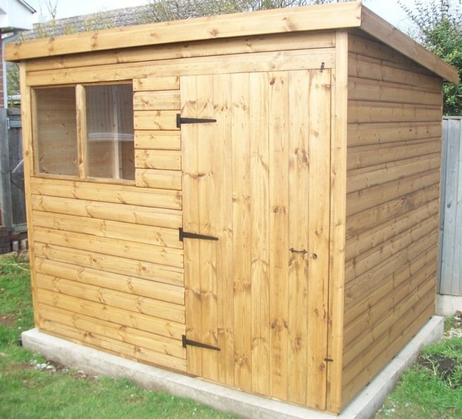 Pent or apex sheds