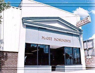 McGee Monuments' store in Rochester