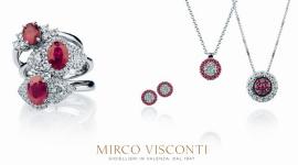 collana con rubini e brillanti, anello brillanti e rubini, orecchini di diamanti e rubini
