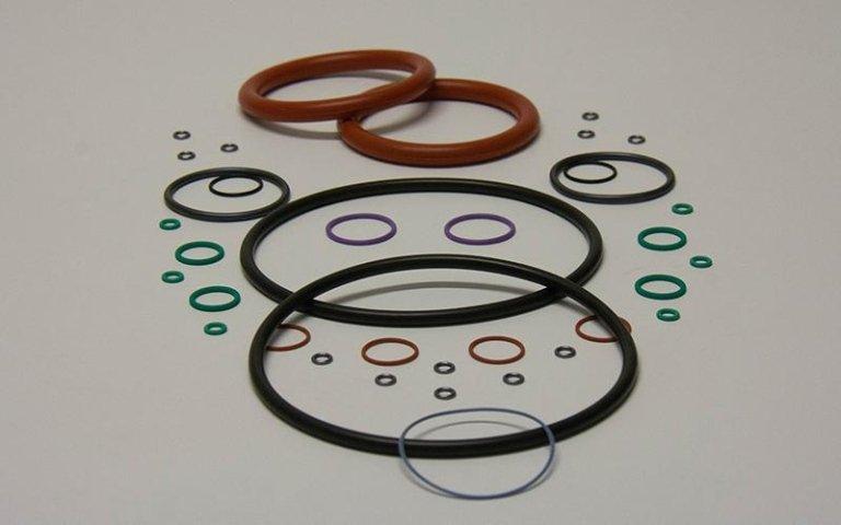 o-ring di plastica