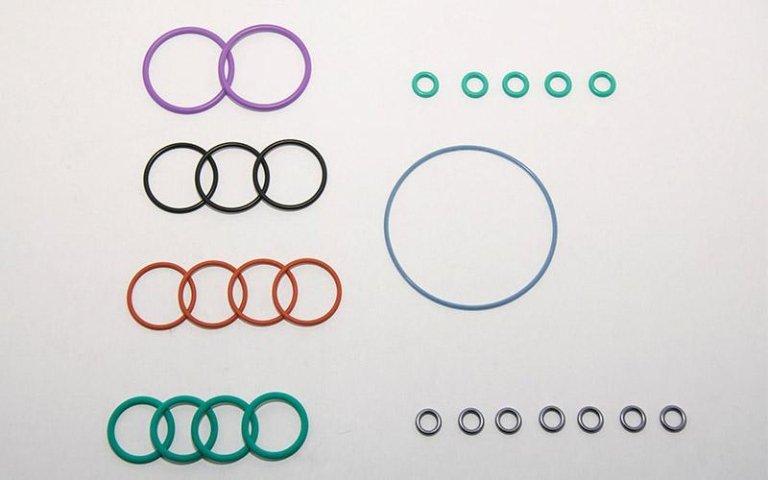 o-ring in gomma di vari colori