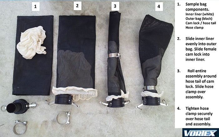 Marine Growth Bag Assembly