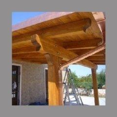 copertura in legno per spazio veranda