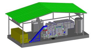Impianto di gassificazione da 350 kWe