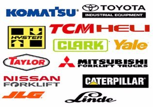 Logos of brands we work with, including Nissan, Komatsu, Toyota, and more