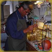 Laboratorio artigianale, restauro oro