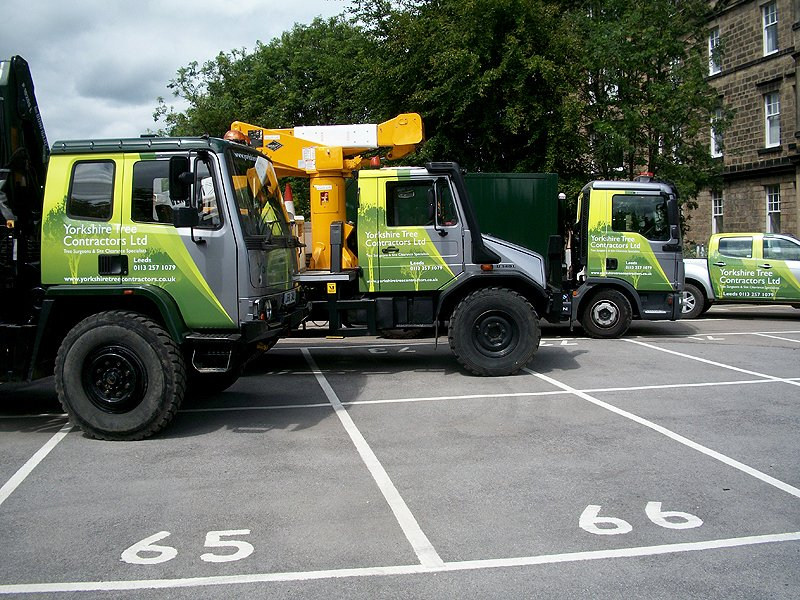 Yorkshire Tree Contractor's lorries