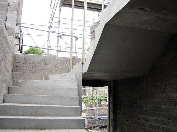 Top Winder Precast Concrete Stairs
