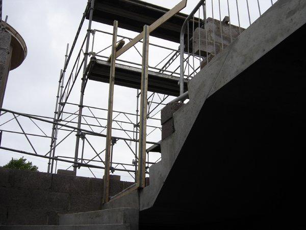 90 Degree Curved Precast Concrete Stair