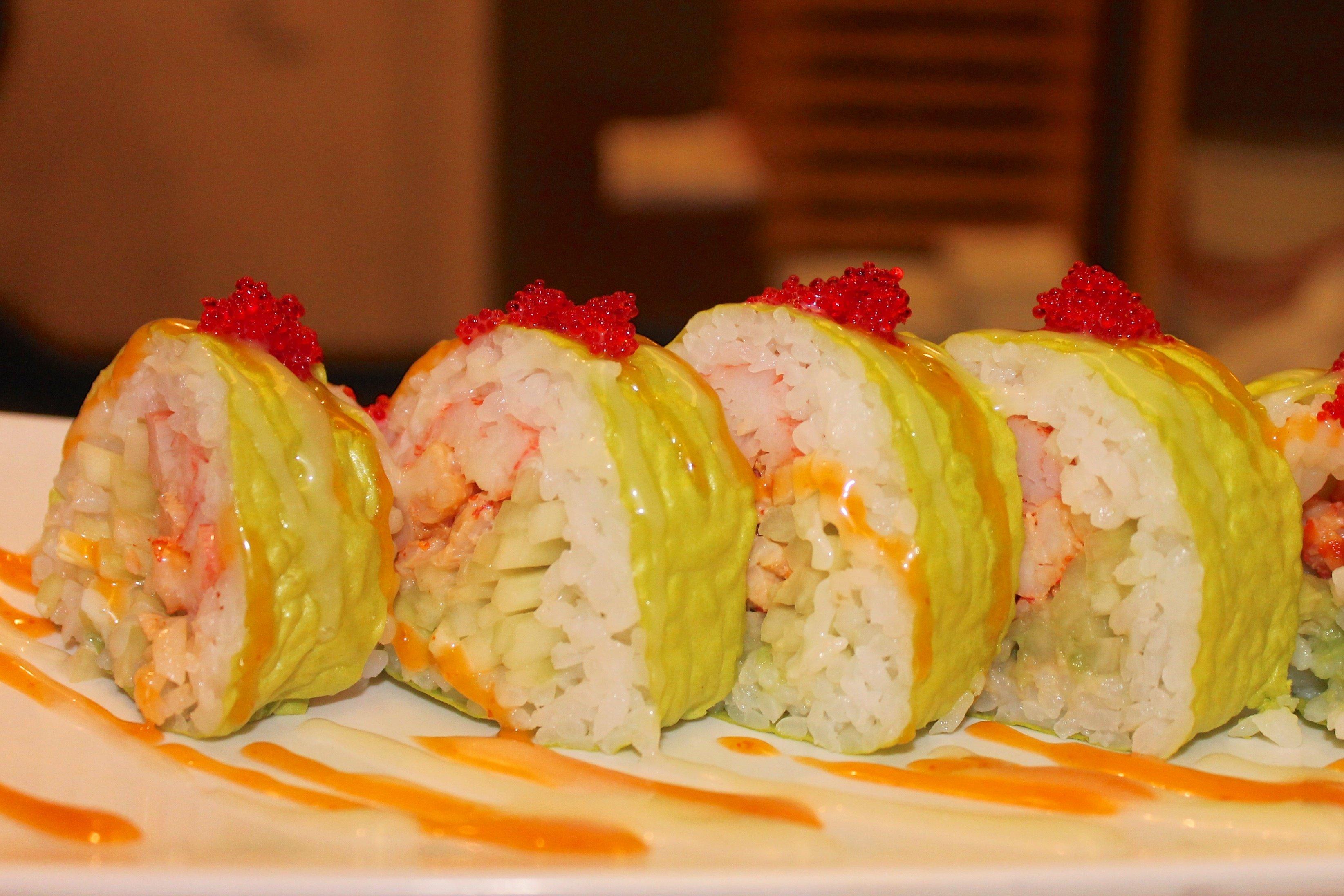 sushi rolls in benton