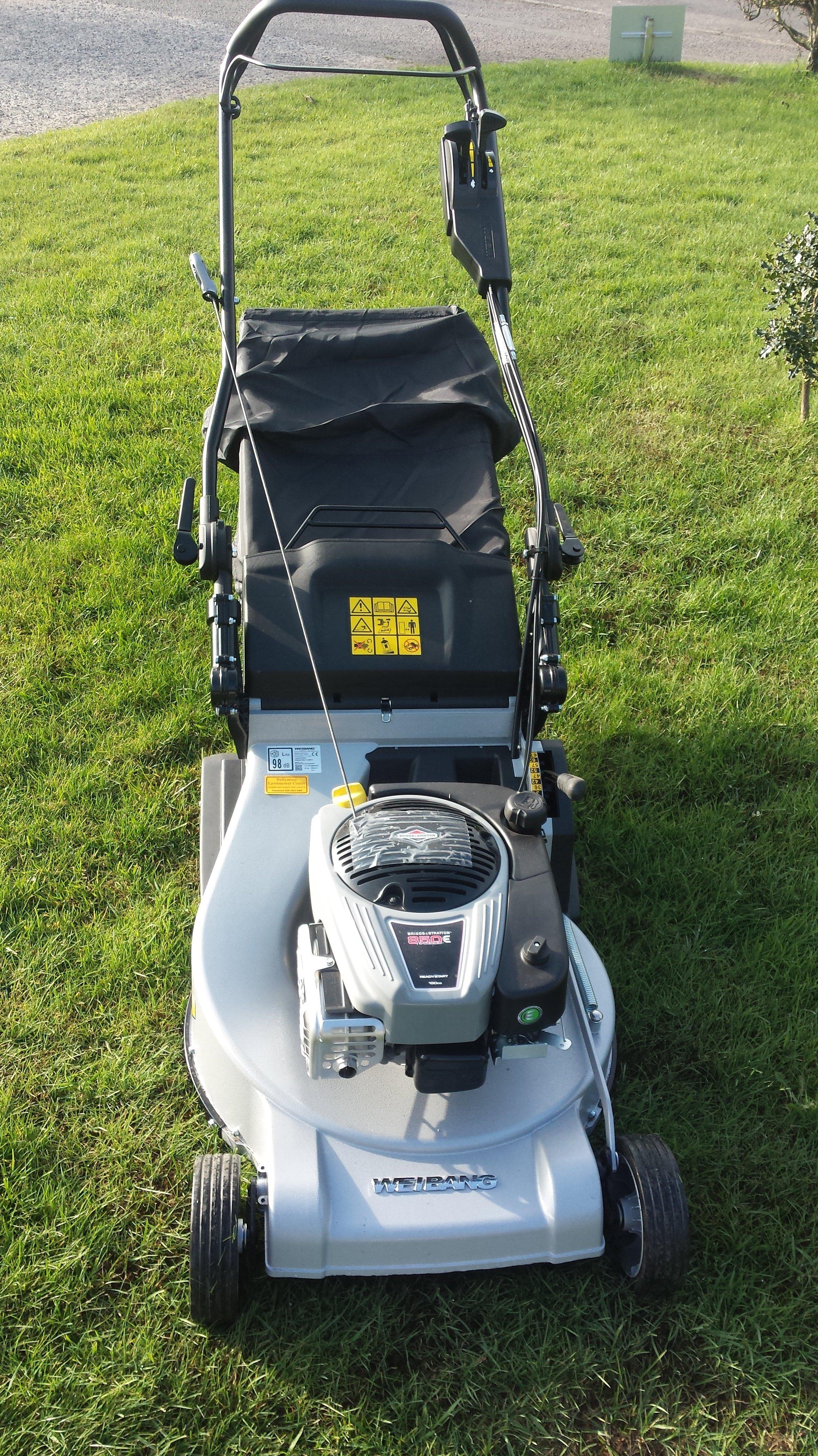 repaired lawnmower