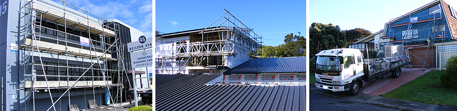 Montage of scaffolding in Auckland