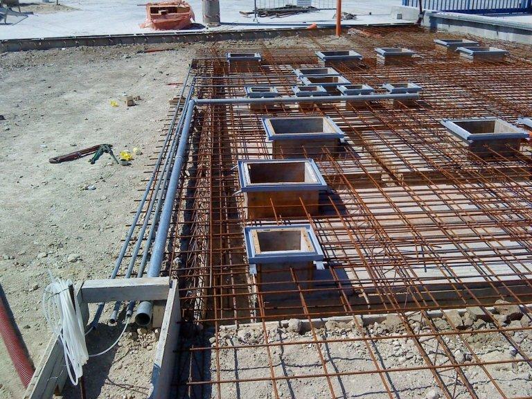 Realizzazione di impianti in cemento armato
