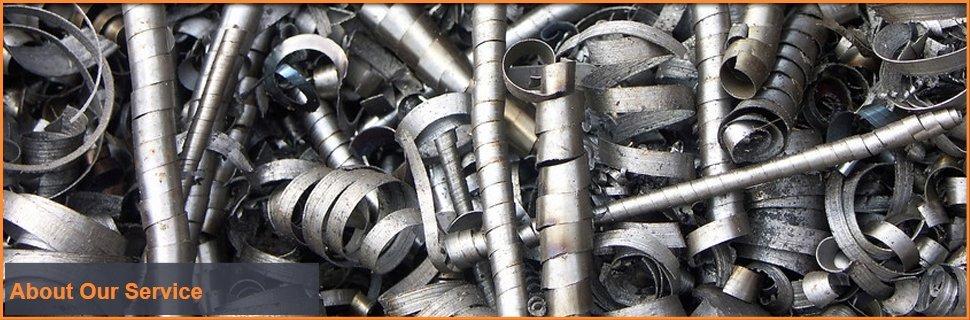 Pieces of scrap metal