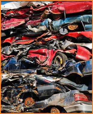 Old scrap cars