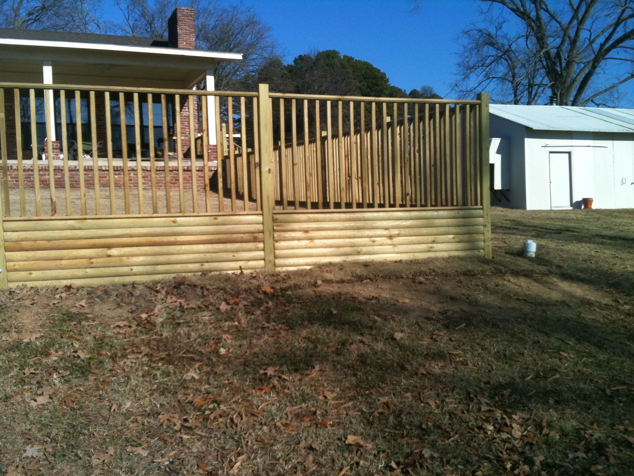 New wooden deck in Atkins, AR
