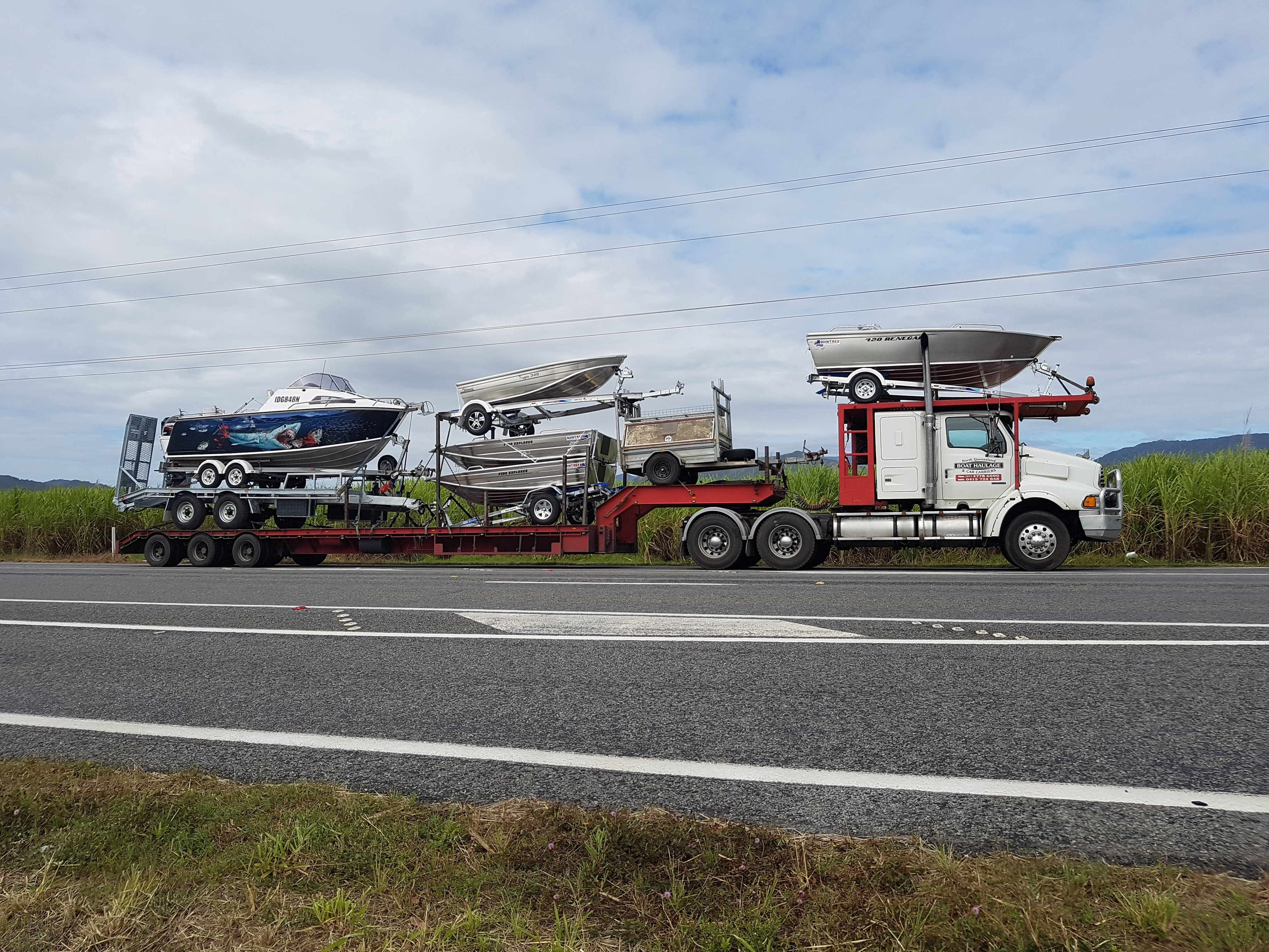 north queensland boat and car haulaging