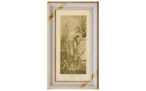 quadro donna in giardino