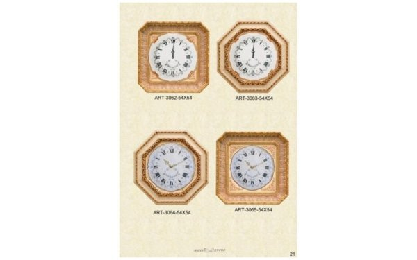 orologi con cornici dorate