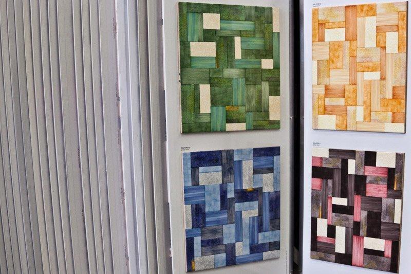 mattonelle sfumate e colorate