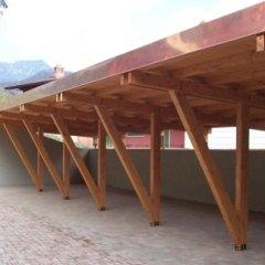 legno lamellare, posti auto, strutture in legno