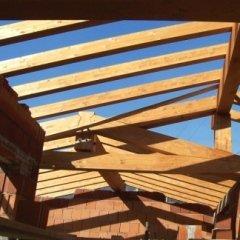 realizzazione tetti, tetto in lamellare, capriata