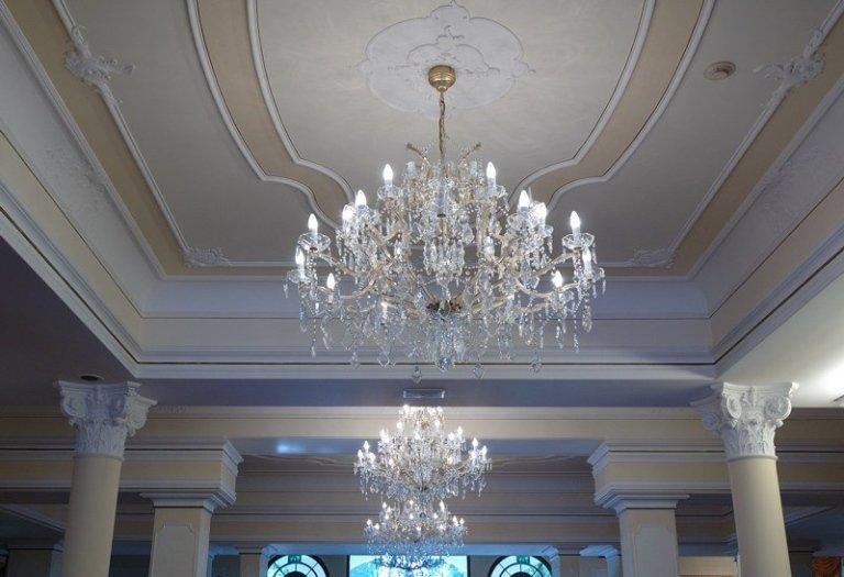 Hotel Due Torri Abano Terme lampadario