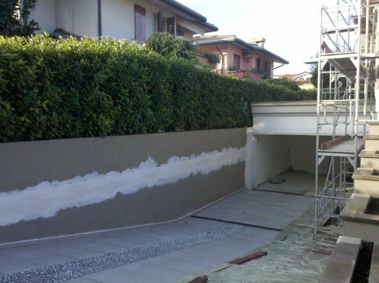 Tinteggiatura estrna abitazione Montegrotto particolare