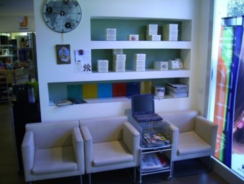 Salone di parrucchieri e d'estetisti, interno