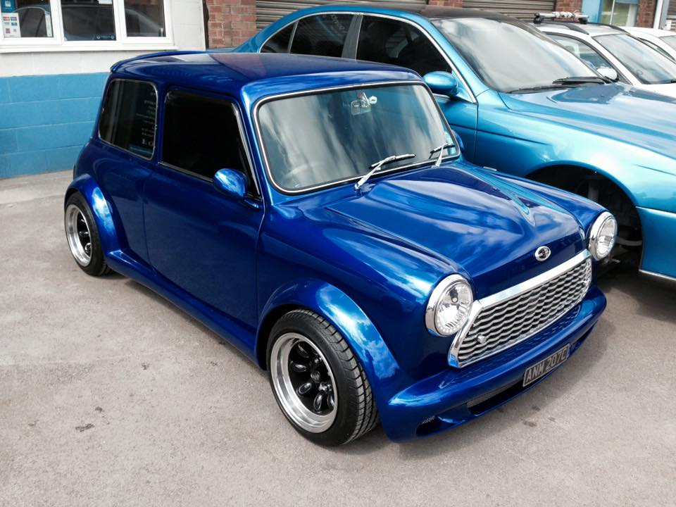 dark blue car