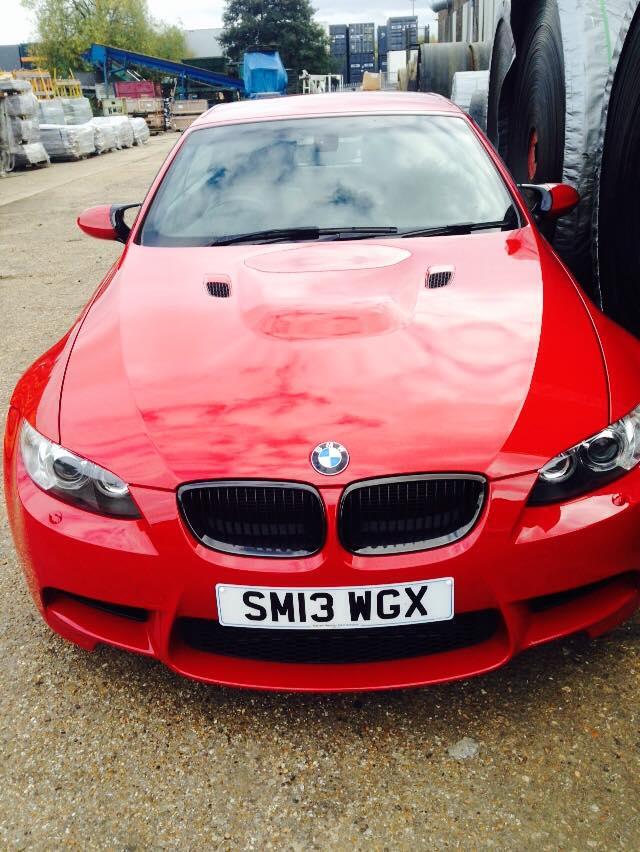 BMW red car