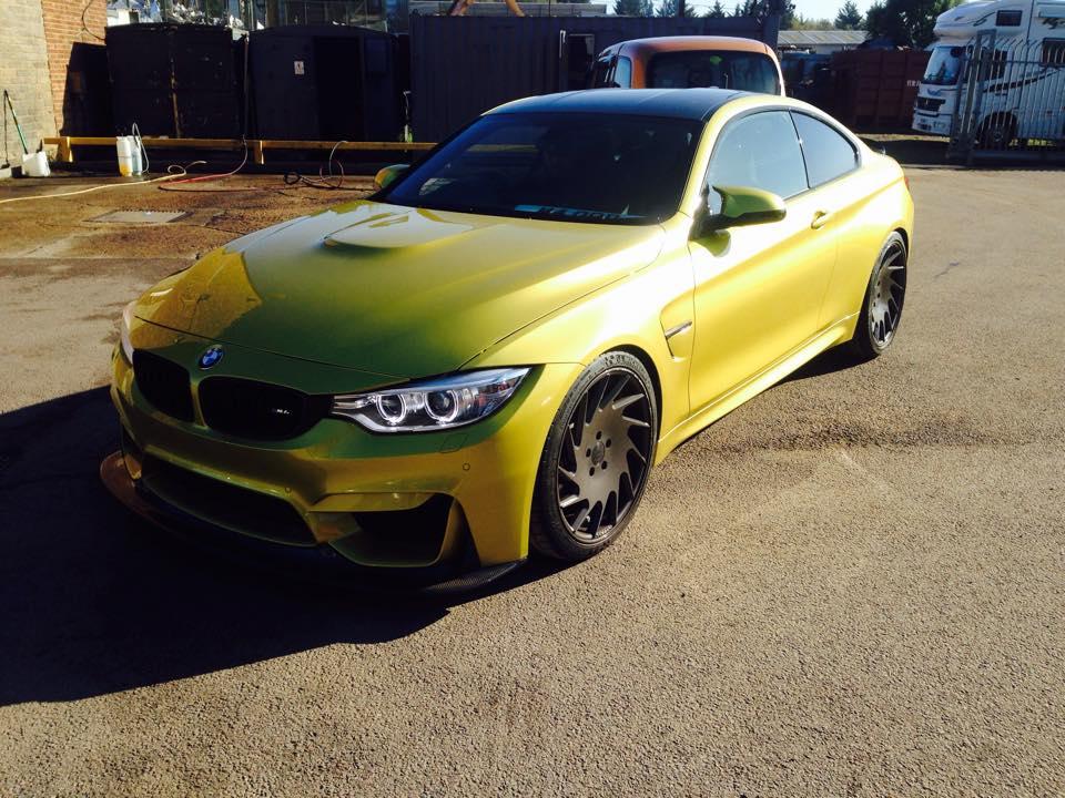 BMW yellow car