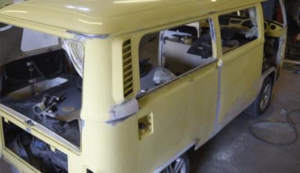 damaged van