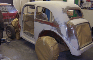 vehicle being restored