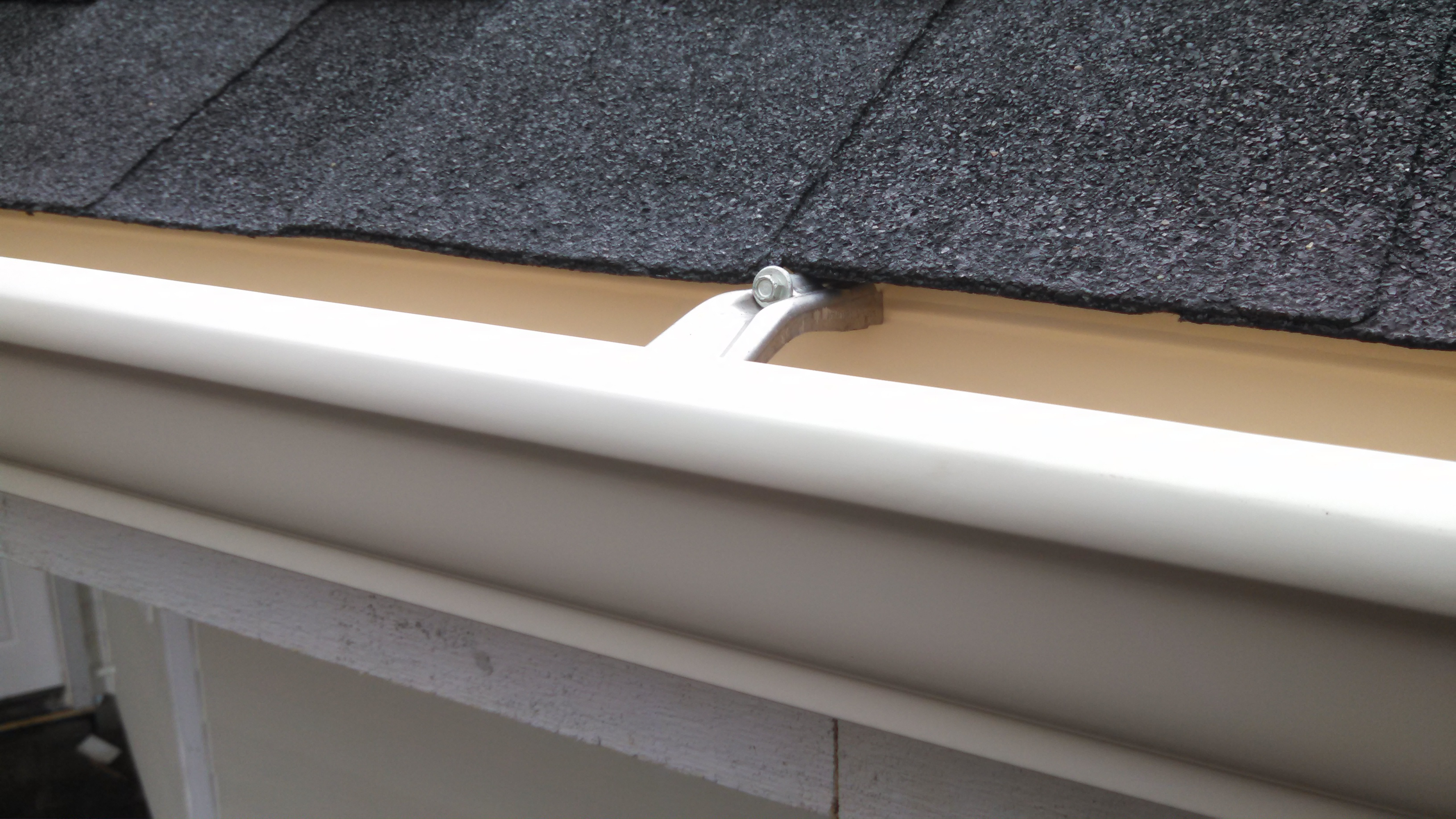 gutter system and tin roof