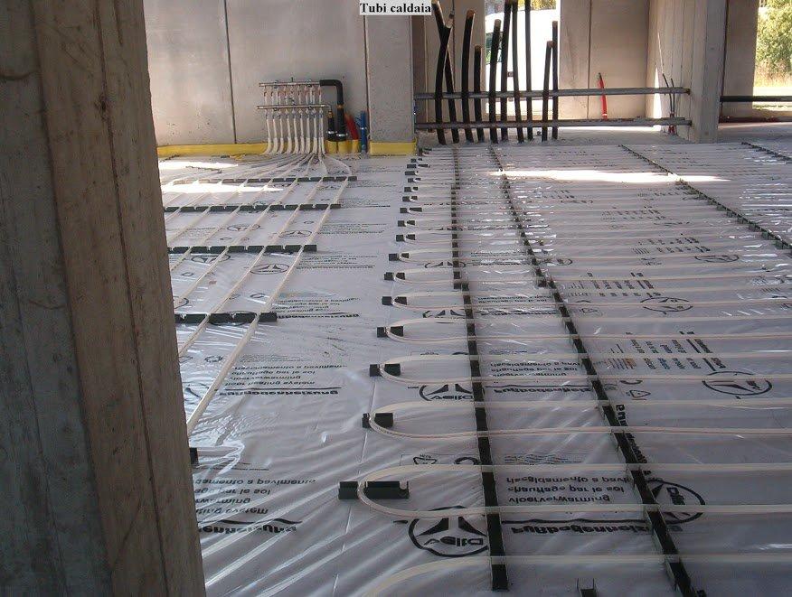 impianto radiante industriale