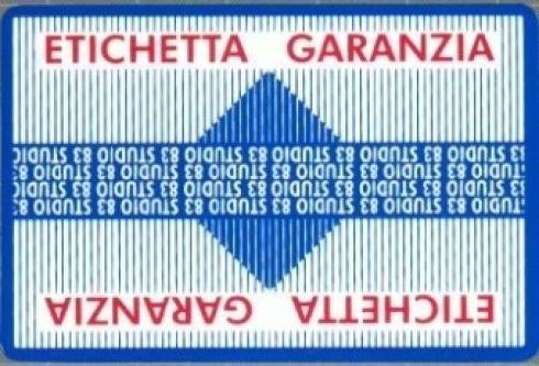 etichetta garanzia