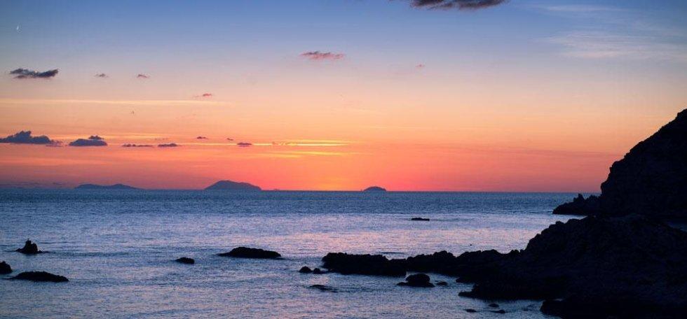 Un tramonto sul mare