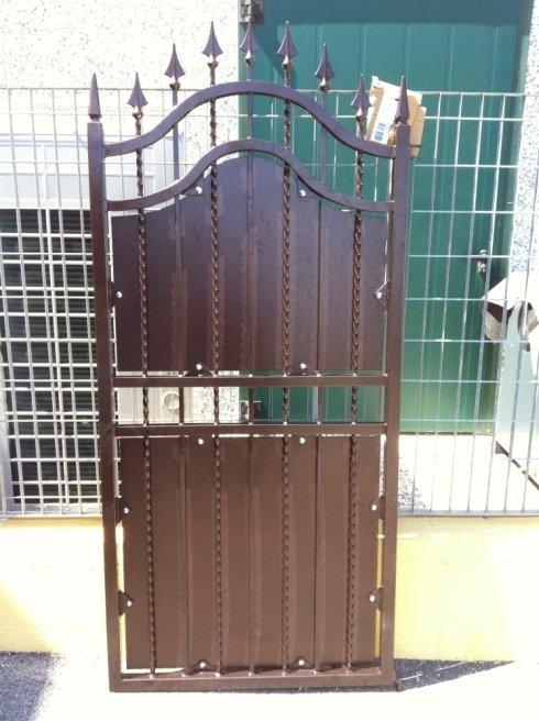 Cancello pedonale zincato e verniciato color Rame