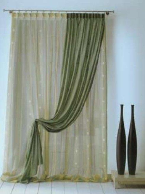 tenda per interni verde