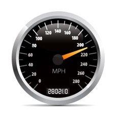 Snelheidsmeter van een auto