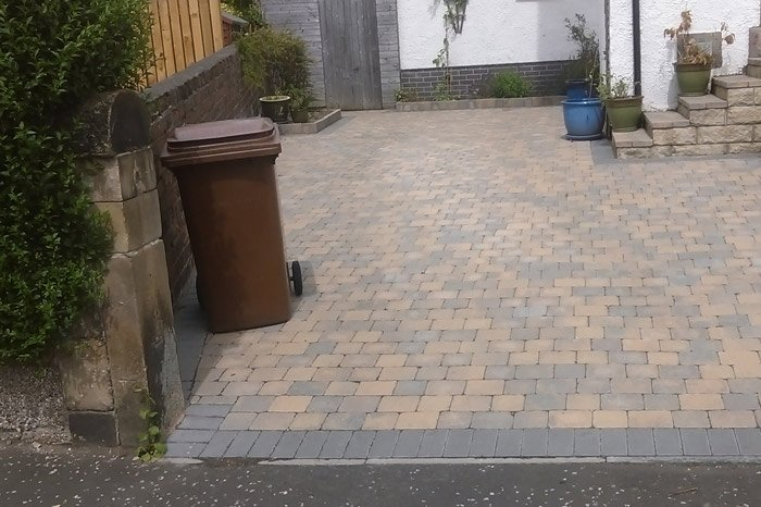 New block driveway