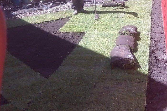 garden re-turfing