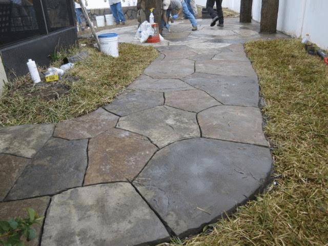 Rock Pathways yard rock installation, landscape pathway, rock walkway, paver