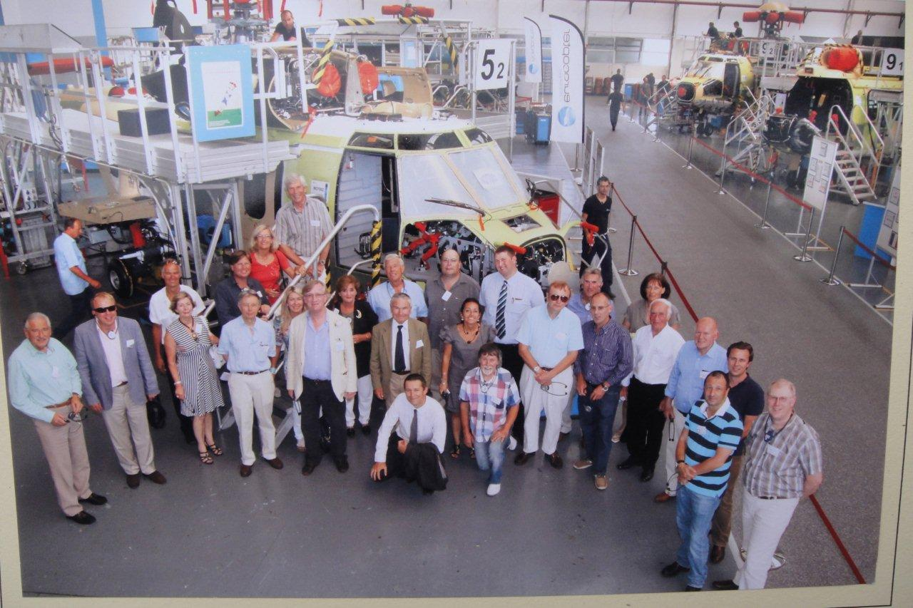 Members visiting Agusta Westland
