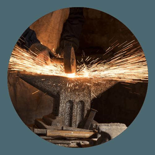 lavorazione ferro a caldo