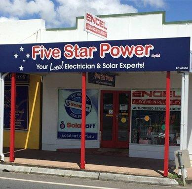 five star power shop entrance