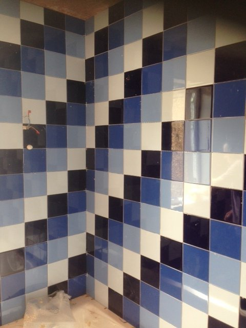 install modern tiles